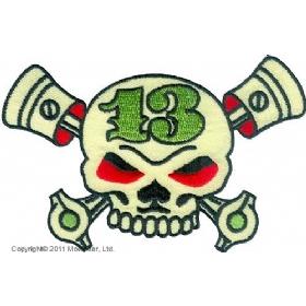 Нашивки Skull 13 with piston-Череп 13 с поршнями.